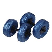 2 adet / takım Taşınabilir Ayarlanabilir Su Dolu Dumbbell 5-10 KG PVC Dumbbell Yoga Vücut Geliştirme Su Parkı Spor Halter Fitness Egzersiz