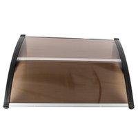 Couvre-pluie de haute qualité pour les meubles Housse de pluie brun auvent transparent brun et belle cour de cour de la cour avec support noir