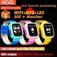Q90 Çocuklar Akıllı İzle GPS Çocuk Telefon Pozisyon 1.22 inç Renkli Dokunmatik Ekran WIFI SOS LED Ekran Çocuk Saatleri