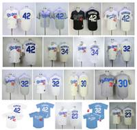 Vintage Brooklyn 42 Jackie Robinson Jersey 23 Kirk Gibson 32 Sandy Koufax 34 Fernando Valenzuela 30 Maury Wills Retro Baseball