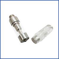 Glas vape Patronen CE3 Vaporizer OEM Verpackung kein Leck flache Spitze Zerstäuber 92a3 Vape Pen nachfüllbar Silber vape Pod