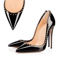 2020Fashion فاخر مصمم أحذية للنساء الكعوب العالية القاع الأحمر حتى أسلوب كيت 8CM 10CM 12CM جولة أصابع القدم المدببة مضخات قيعان اللباس أحذية رياضية