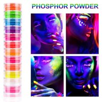 Pigment Eyeshadow Palet Kozmetik kit kadar 12Box / Seti Güzellik Camlı Makyaj Eyeshadow Pallete Floresan İşaretleyici Işıltılı olun