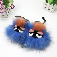 Summer Children' s Fun Hair Non- slip Flat Shoes Fluffy S...