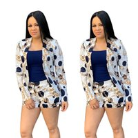 Printed Women's Set Blazer Coat+pant Long Sleeve Summer Two Piece Set Fashion Casual Ladies Tops Pant Suits