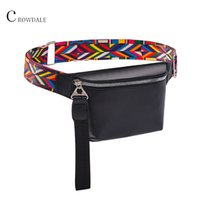 CROWDALE Waist Bag for Women New leather Fanny Pack For Girls Letter Bum Bag Packs fashion Chest Bag Crossbody Belt female MX200717