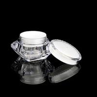 15g / ml Elmas Stil Pot Akrilik Kozmetik Boş Kavanoz Göz Farı Makyaj Yüz Kremi Dudak Konteyner Numune Ambalaj LJJP125 Şişe