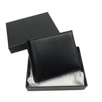 Cas de portefeuille pour hommes Porte-monnaie Porte-monnaie Mode Sac mince Portefeuille Portefeuille Top Cuir Porte-cartes de crédit Mesdames Sac à main avec portefeuille de la boîte