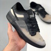 2020 New SB Dunk Low Pro Japan CD Print Black Translucent CDGS Dunks Herren Schuhe Skateboarding Womens Sneakers Größe 36-45