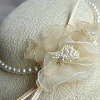 2020 Cappelli da sposa vintage Cappelli beige Spedizione gratuita Cappelli da sposa con perle
