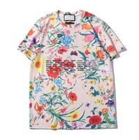 Письма Printted Mens женщин тенниски горячего способа Tshirts с коротким рукавом Мужчины Женщина Пара Tops с цветами Tee рубашки Размер S-2XL