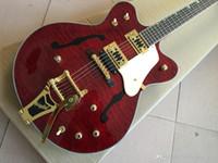 Пользовательские оптом G6122-1962 гаммеры высокого качества Электрическая гитара Atkins Страна джентльмен Новый продукт, полый корпус F типовая печать, обеспечить C