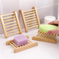 Natural Wood Soap Dish Bathroom Accessories Home Storage Org...