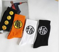 Goku Print Skateboard Socks Medias para mujer Streetwear Medias de moda sobre el amante del tobillo Calcetines de dibujos animados Cutton Blend Medias DOXH #