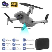 E99Pro مزدوجة 4K HD كاميرا WIFI FPV البسيطة المبتدئين الطائرة بدون طيار لعبة طفل، المسار الطيران، سرعة قابل للتعديل، ارتفاع الإيقاف، لفتة صور كوادكوبتر، 2-1