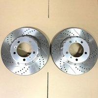 Jekit rotores de disco de freno patrón perforados ranurados 345 de 32 mm * con tapa central astilla de 997 calibradores Stock freno delantero m5vl #