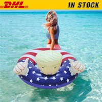DHL شحن! السباحة العوامة في سوق الأسهم الإبداعية PVC ترامب السباحة الدائري نفخ العربات ثخن بركة تعويم لFY6078 الكبار للأطفال