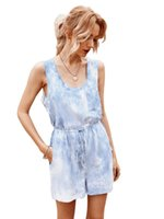 Women's Jumpsuits & Rompers Womens Clothing Jumpsuit Casual Pants Women Summer Pocket Overalls Sleeveless Wide Leg Loose