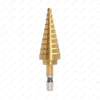 Titanyum Adım Koni Matkap Ucu Delik Kesici 4-20mm HSS 4241 Sac Ahşap Sondaj Araçları Için