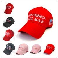 Donald Trump 2020 berretti da baseball rendere l'America Great Again Cappello ricamo sfera del cappello di sport all'aperto Beach Viaggi Cappello per il sole K411