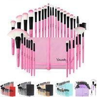 32 قطع فرش ماكياج مجموعة الوردي الجمال أنيق مستحضرات التجميل الحاجب الظل مسحوق بنسل المكياج maquiagem أدوات + الحقيبة حقيبة أكياس المهنية
