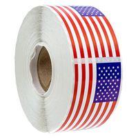 250pcs / roll US bandiera americana Sticker decorazione della decalcomania dell'emblema del distintivo di cancelleria tenuta Adesivo Diario fai da te Sticker Packaging Decoration