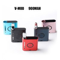 100% Original V-mod 900mah Preheat VV Variable Voltage Battery 510 Thread Batteries E Cigarette For Oil Cartridges Atomizer With USB Charger