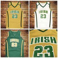 ABD'den Gemi #st Vincent Mary Lisesi İrlanda Basketbol Forması Tüm Dikişli Beyaz Yeşil Sarı Formalar Boyutu S-3XL