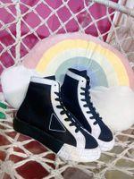 20SS Chegada Mens Mulheres Designer Sapatos de Algodão Nylon Gabardine High-top Sneakers Moda Luxur Sneakersy Shippmets mais rápidos