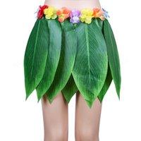 Гавайский пляж тема украшения партии бакелоретка партия партия имитации листьев венок листья юбка ступенька шоу трава юбка