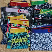 Em estoque cor aleatória mens curta boxers mens designer underwears respirável algodão boxers cuecas cueca calcinha rápida s -xxl