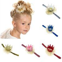 Bebek doğum günü partisi Çiçek Saç Bandı Pullarda Taç Baş bandı Prenses Glitter 6 Ay -3 Yaşında Fotoğrafçılık Şapka