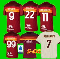 S-4XL 20 21 ROMA jersey de football à domicile 2020 2021 AS PASTORE DZEKO Zaniolo EL Shaarawy ROME FOOTBALL