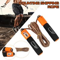 Professional Skipping Rope Training Crossfit Jump Rope with Counter Workout Equipments Adjustable Skipping