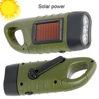야외 캠핑 등산을위한 휴대용 LED 손전등 핸드 크랭크 디나모 토치 랜턴 전문 태양 광 발전 텐트 라이트