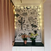 Цереуса Хиппи Гобелен Гобелен ткань Boho Декор Ouija Ткань Стена гобелены Ковер гобелен Кактус мандалы