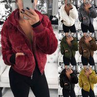 Inverno Quente macio fofo casaco de pele jaquetas mulheres peludo pele falsa colhida jaqueta recolhida colarinho aberto sobretudo 9902