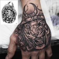 Временные Tatoo Men Horror King Tiger TaTeary Tattoo Boy Водонепроницаемая Рука Тату Роз Рот Робот Татуировка Наклейка Вода Передача