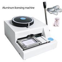 52 Manuel de caractère MANUEL Dog Machine Machine métallique Embosser ID Carte d'identité Machine Machine Acier Machine de gaufrage Acier Militaire 99%