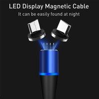 Mıknatıs Hızlı Tüm USB Kabloları Tip-C Şarj Şarj Samsung Naylon Huawei Hızlı Manyetik Kablo Mikro Cep Telefonu ISWSF