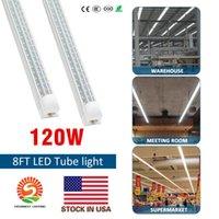 AC85V-265V 조명 LED 튜브 조명 8피트 6피트 5피트 4피트 통합 V-모양의 더블 행 60W 120W 크리어 LED 형광