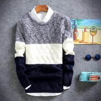 El regalo de Navidad de color de los cordones convencionales de moda masculina de los hombres de la manga suéter suéter ong