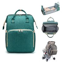 Baby Diaper Bags Multifunctional Foldable Baby Travel Bed Cr...