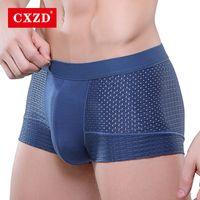 CXZD Sexy cueca cueca boxer homens malha Shorts plus size Men Sólidos Roupa pugilistas calcinhas calções mens cara sexy de gordura