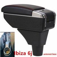 Ibiza'nın 6j'nin Kolçak Kutusu Merkez Mağaza İçeriği Saklama Kutusu Kol Dayama ile Kupa Tutucu Küllük USB Arayüzü sjJQ # için