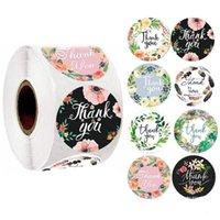 Мини круглый цветок наклейки Спасибо наклейки Выпечка этикетки самоклеющиеся Украсьте Бизнес подарки 500шт Бесплатная доставка 2 3jr D2
