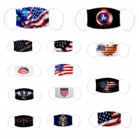 2020 American Flag Mask Adult USA 3D Printing Dustproof Breathable Washable mouth cover face mask with filter pocket Kid adult Mask CYF4270