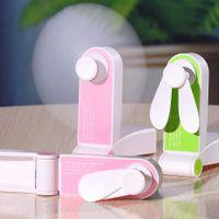 Usb Pocket-Falten-Fans elektrische bewegliche Halten Kleine Fans kleine elektrische Haushaltsgeräte Desktop-Ventilator
