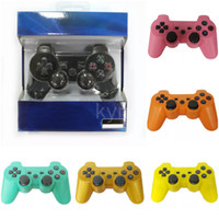 Top Seller Dualshock 3 Controller Wireless Bluetooth per i controller PS3 Vibration Joystick Gamepad di gioco con la scatola di vendita al dettaglio