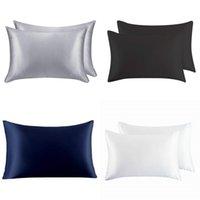실크 지퍼 베개 더블 봉투 침대 룸 장식 베개 케이스 사무실 의자 홈 인테리어 카시트 Pillowsick 커버 데스크 6 29nt의 B2 양면